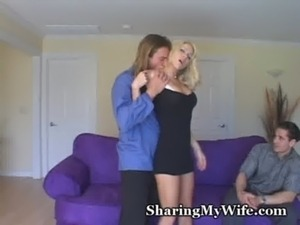 husband lets friend fuck his wife