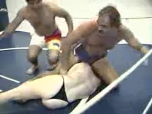 black vs blonde female topless wrestling