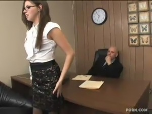 girl suckes her bosses dick