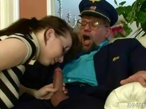 grandpa licking pussy