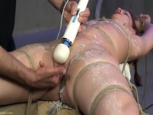 wife tied up naked pussy torment