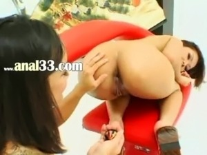 Asian chick bum licking and fucking free