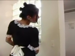 ebony black maid fucks tube