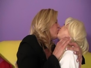 hot lesbian secretary seduces wife