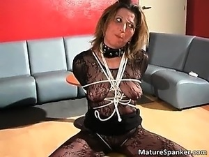 Hot nasty big boobed MILF slut gets tied part3