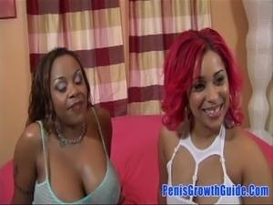 pinky strapon fucks busty ebony lesbian