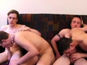 Four straight twink amateurs suck dick