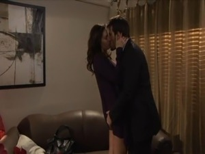 Brunette office affair free