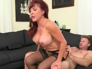Hot MILF Christina Gets Nailed By Her Boyfriend In Her House