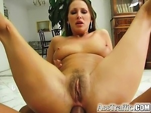 Brunette bombshell Mandy has anal skills most girls can