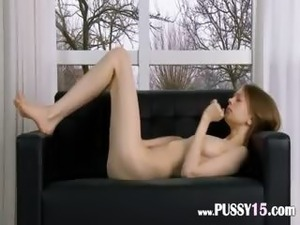 asian sex on red couch