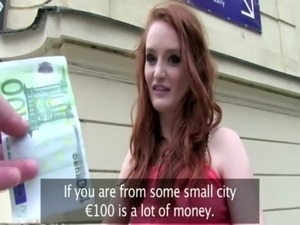 Redhead euro slut wants some money for sexy acts free