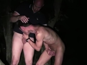 Gay dudes give rimjob and blowjob outdoors in France