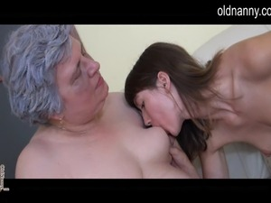 mature woman teaching younger lesbian