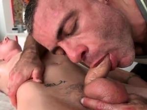 sexy blonde massaging herself