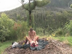 Australian fuck slut couple sex outdoors gets real hot