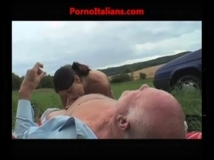 girl makes blowjob to grandfather free