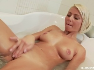Girl masturbating in bath