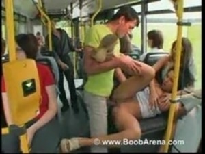 gang bang bus black on white