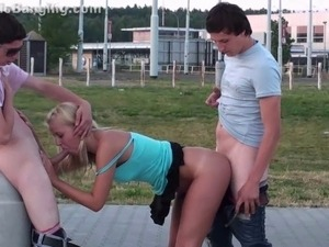 Extreme PUBLIC young teen gangbang sex in the street PA
