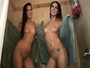 Lesbians in the shower videos