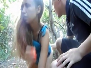 Russian students fuck in the woods free