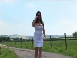 Cathy Barry Fucked in the Countryside! free