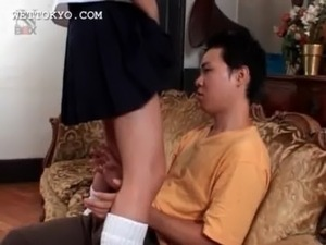 Asian teen girl getting cunt licked gives hot blowjob free