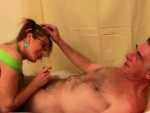 nurse sexy blonde chick flexing her