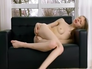 drunk naked girl fucked on couch