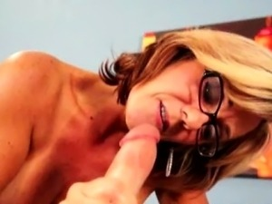 Cock tugging loving grannie spoils dick