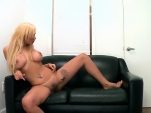 young blonde lesbian in locker room