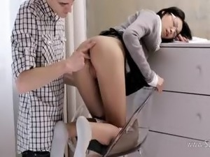 amateur secretary sex on table