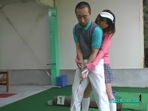 putting golf ball in pussy