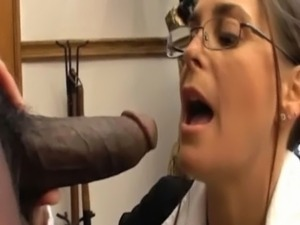 black firl sucking white guys dick