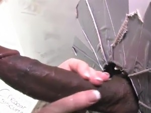 black shemale glory hole cums