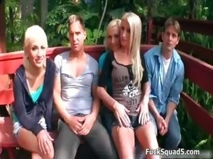 Hot blonde babes go crazy getting fucked part3