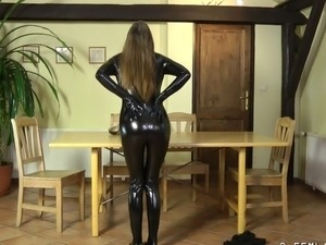young girls in latex