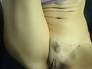 Sexy amateur babe showing off her pussy on web cam
