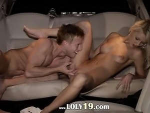 blonde in limo porn