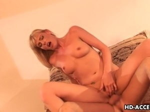 hot young blonde has orgasm