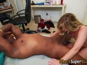 Teen gets big dick facial