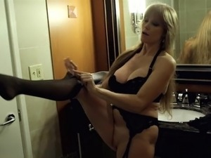 Teen purple nylons gets fucked