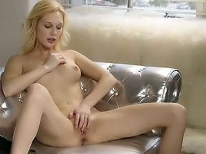 Pink orgasm of true blond princess