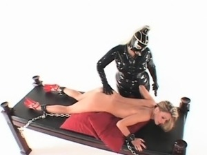disabled girl in latex asian bondage
