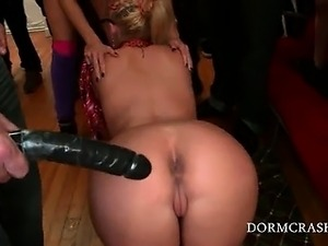 xxx tiny tits party video
