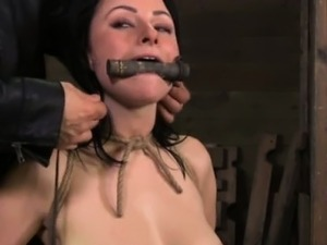 gagged oral sex