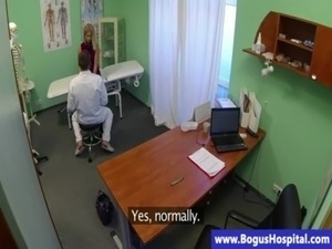 Blonde patient fingered by her doctor free