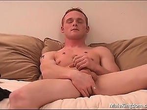 Horny tatued dude is half naked part4