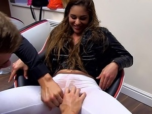 flirting teens in black pantyhose
